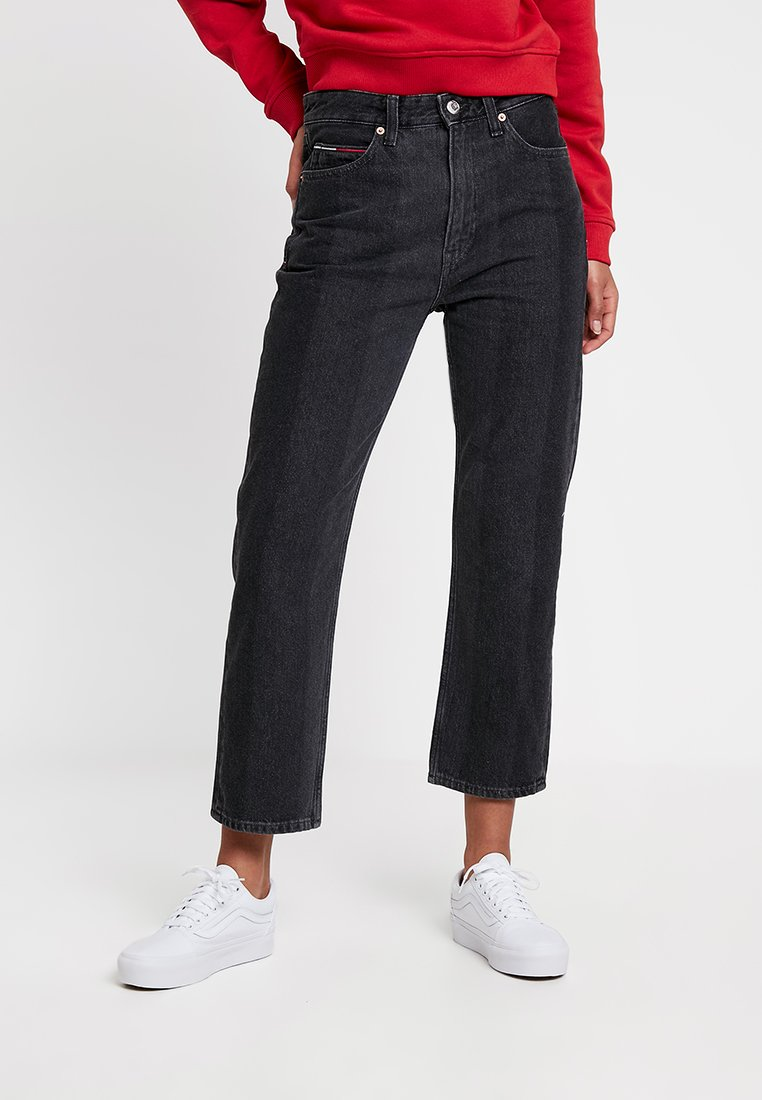 Tommy Jeans - HIGH RISE 1990 WOMENS - Jeans Straight Leg - black