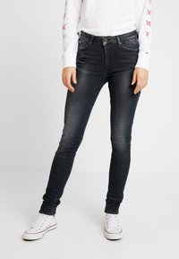 Tommy Jeans - HIGH RISE - Jeans Skinny - black denim - 0