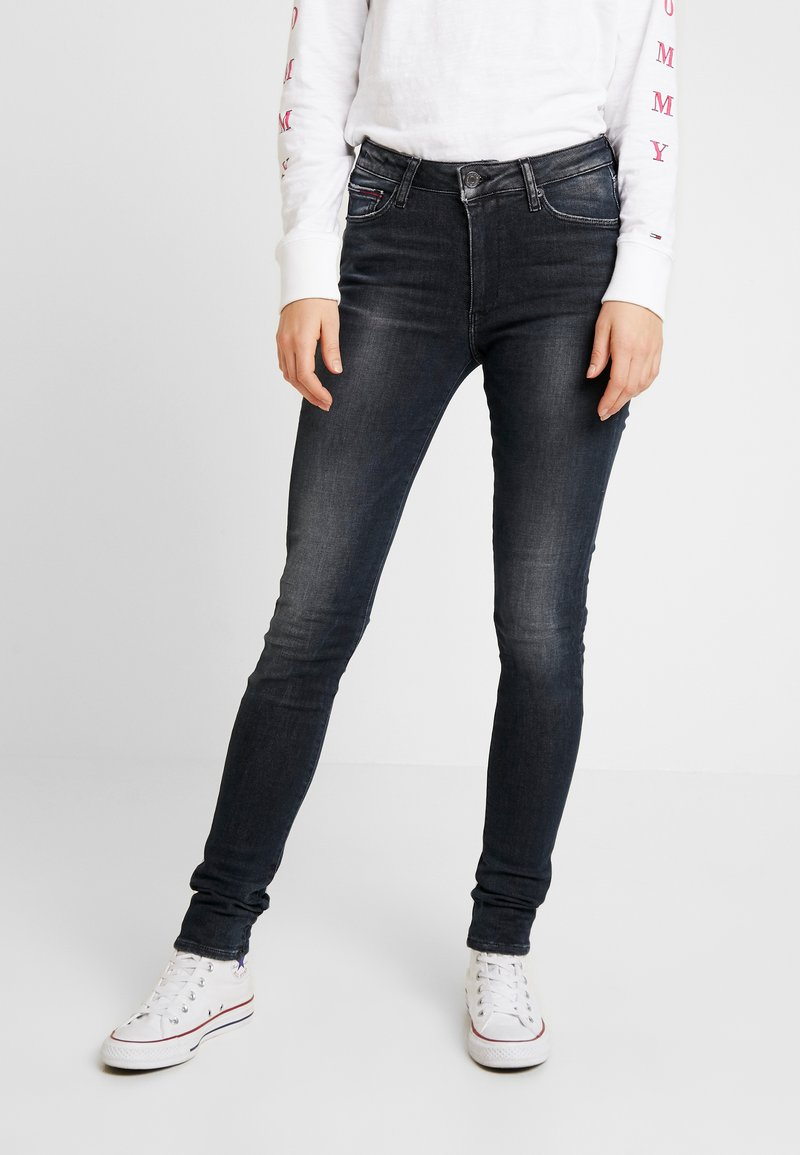 Tommy Jeans - HIGH RISE - Jeans Skinny - black denim
