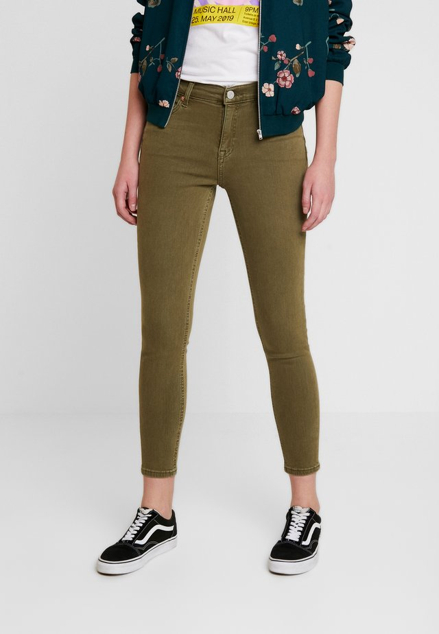 NORA MID RISE - Jeans Skinny Fit - martini olive