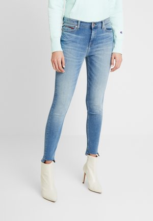 NORA MID RISE ANKLE - Jeansy Skinny Fit - blue denim