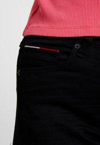 Tommy Jeans - HIGH RISE - Jeans Skinny Fit - black denim - 3