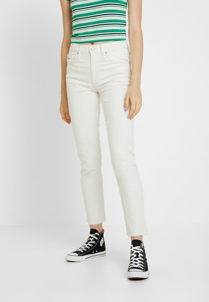 HIGH RISE IZZY - Jean slim - white denim