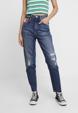 HIGH RISE TAPERED - Jean boyfriend - bates mid