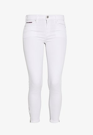 NORA ANKLE ZIP - Jeansy Skinny Fit - candle white