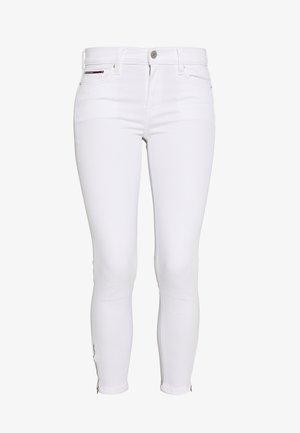 NORA ANKLE ZIP - Skinny džíny - candle white
