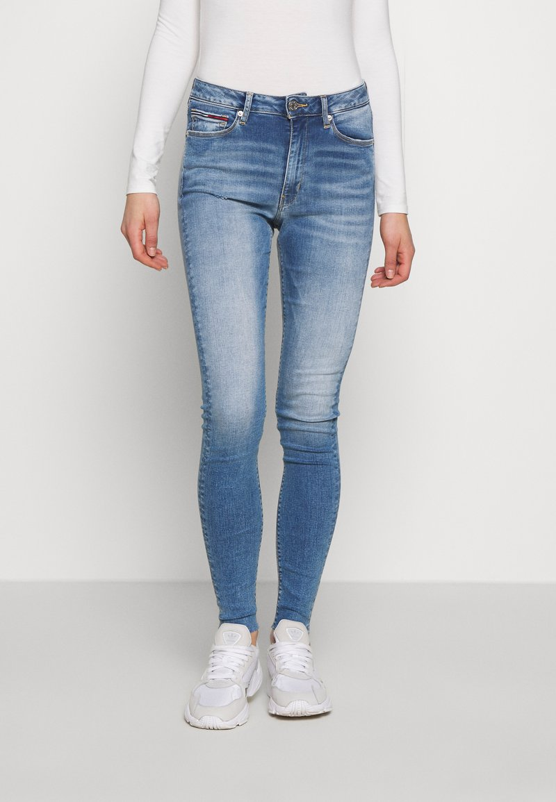 Tommy Jeans - SYLVIA SUPER ANKLE - Jeans Skinny - blue denim
