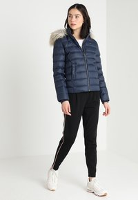 Tommy Jeans - ESSENTIAL HOODED - Doudoune - black iris - 1