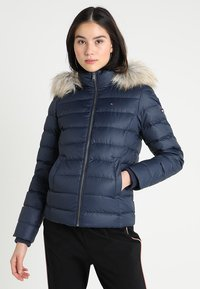 Tommy Jeans - ESSENTIAL HOODED - Doudoune - black iris - 0