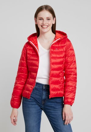 QUILTED ZIP THRU - Light jacket - flame scarlet