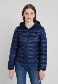 Tommy Jeans - QUILTED ZIP THRU - Light jacket - black iris - 0