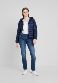 Tommy Jeans - QUILTED ZIP THRU - Light jacket - black iris - 1