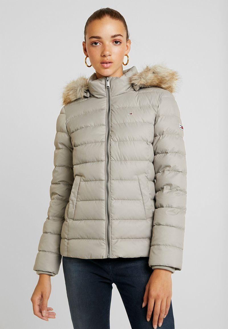 Tommy Jeans - ESSENTIAL HOODED JACKET - Down jacket - mourning dove