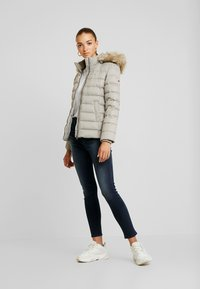 Tommy Jeans - ESSENTIAL HOODED JACKET - Down jacket - mourning dove - 1