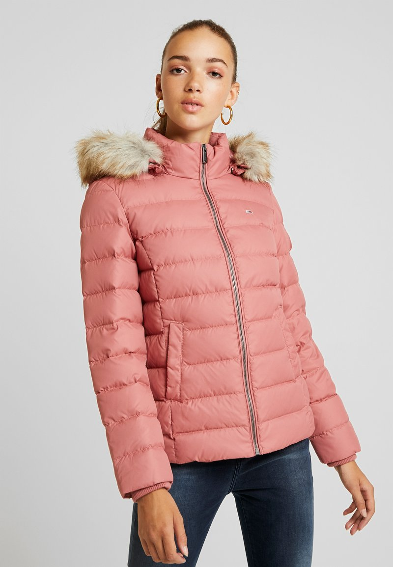 Tommy Jeans - ESSENTIAL HOODED JACKET - Down jacket - withered rose