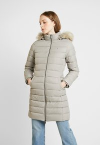 Tommy Jeans - ESSENTIAL HOODED COAT - Donsjas - mourning dove - 0