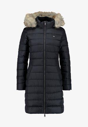 ESSENTIAL HOODED COAT - Dunkåpe / -frakk - black