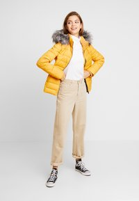 Tommy Jeans - ESSENTIAL HOODED JACKET - Zimní bunda - golden glow - 1