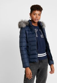 Tommy Jeans - ESSENTIAL HOODED JACKET - Winterjas - black iris - 0