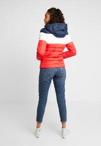 Tommy Jeans - MODERN COLORBLOCK JACKET - Light jacket - flame scarlet/black iris/multi - 3