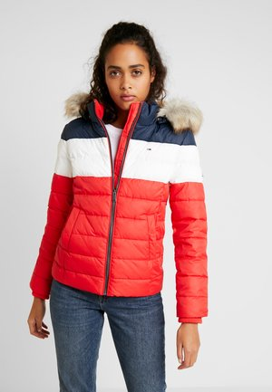 MODERN COLORBLOCK JACKET - Lehká bunda - flame scarlet/black iris/multi