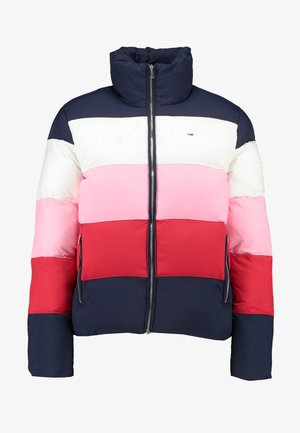 COLORBLOCK - Winter jacket - black iris/multi