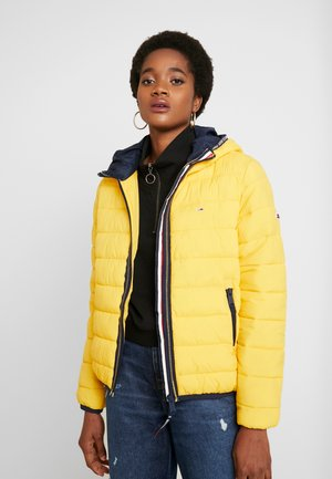 QUILTED TAPE DETAIL JACKET - Light jacket - spectra yellow
