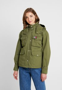 Tommy Jeans - PLEAT DETAIL SLEEVE - Giacca leggera - martini olive - 0