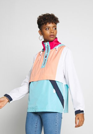 COLORBLOCK POPOVER - Cortaviento - fresh aqua/melon orange/ multi