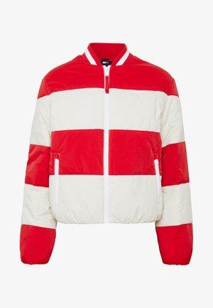 COLORBLOCK TRACKSUIT JACKET - Winter jacket - deep crimson/light silt