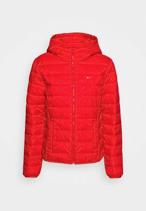 HOODED QUILTED ZIP - Lehká bunda - deep crimson