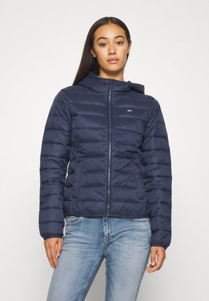 HOODED QUILTED ZIP - Light jacket - twilight navy