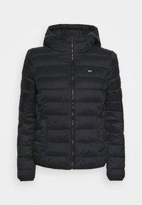 Tommy Jeans - HOODED QUILTED ZIP - Veste mi-saison - black - 4