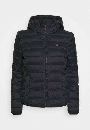 HOODED QUILTED ZIP - Lehká bunda - black