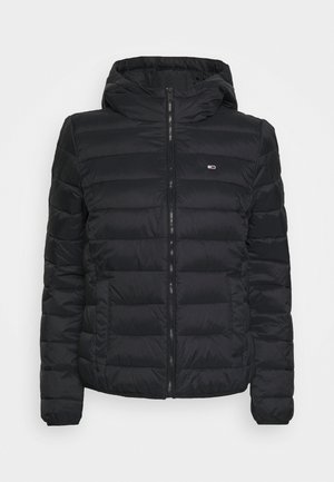 HOODED QUILTED ZIP - Giacca da mezza stagione - black