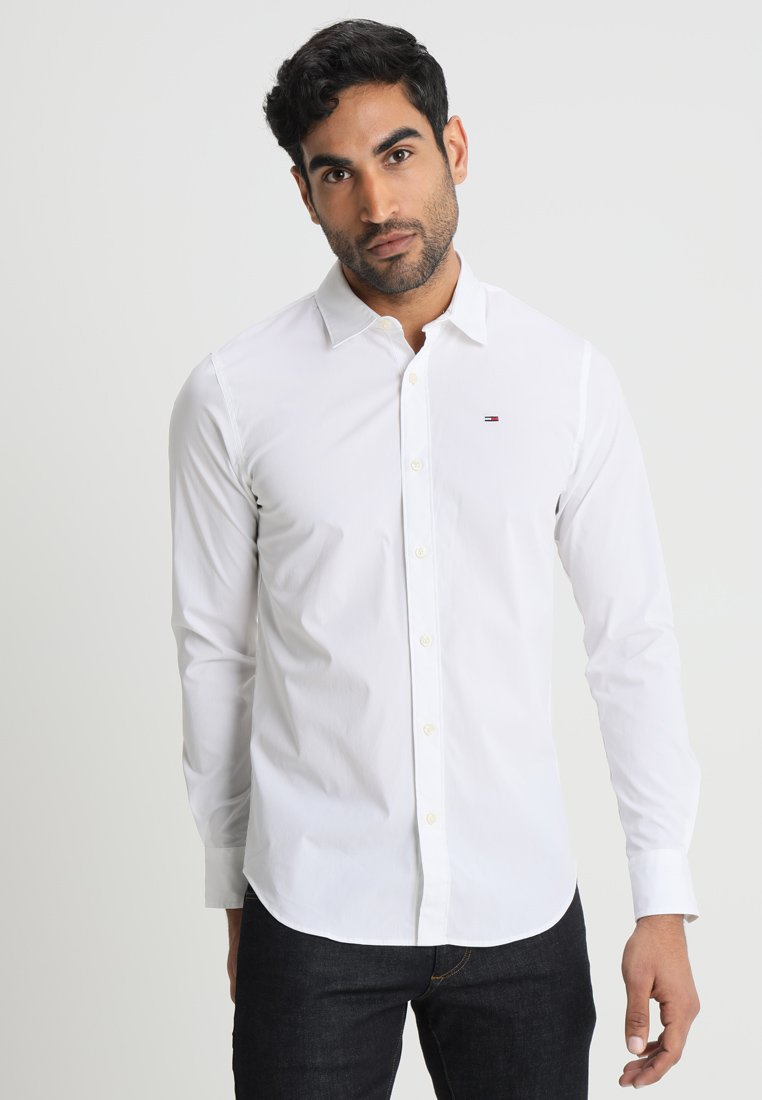 Tommy Jeans - ORIGINAL STRETCH SLIM FIT - Shirt - classic white