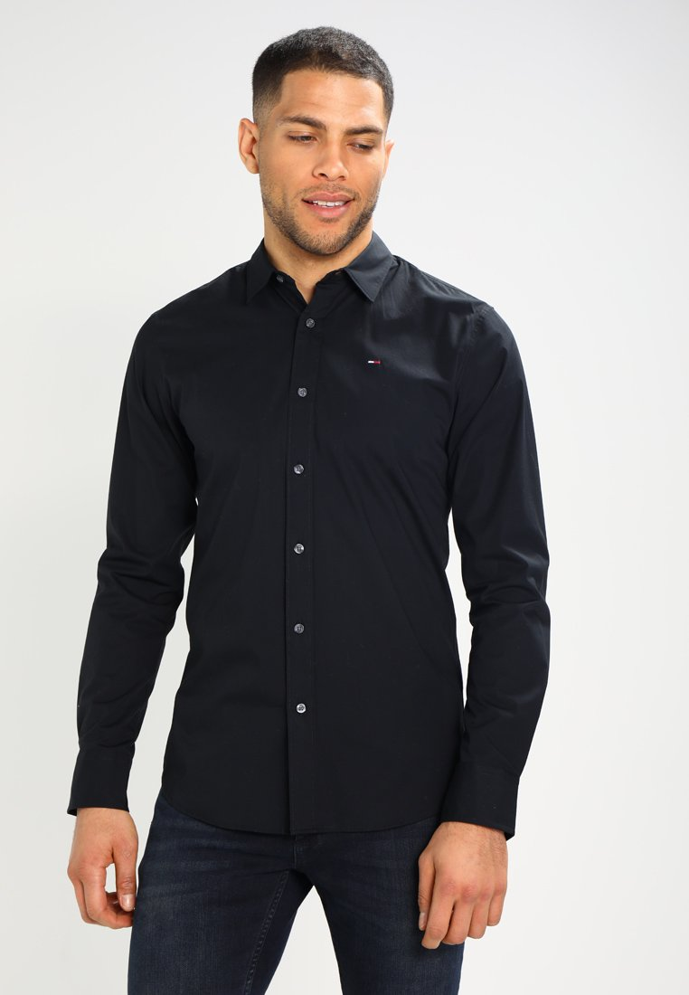 Tommy Jeans - ORIGINAL STRETCH SLIM FIT - Camisa - black