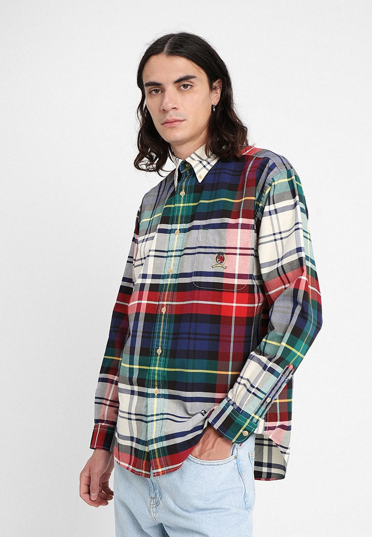 Tommy Jeans - PLAID CREST - Overhemd - dark sapphire / multi