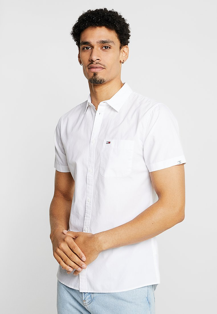 Tommy Jeans - SOLID SHIRT - Hemd - white