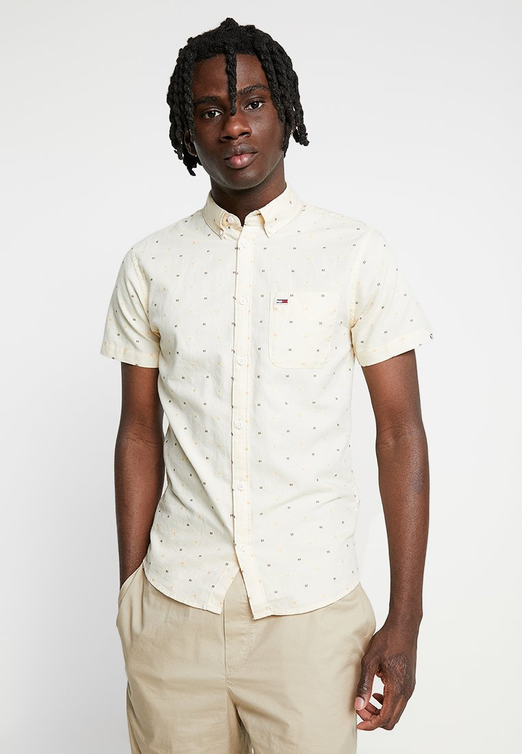 Tommy Jeans - SHORT SLEEVE DOBBY SHIRT - Shirt - yellow