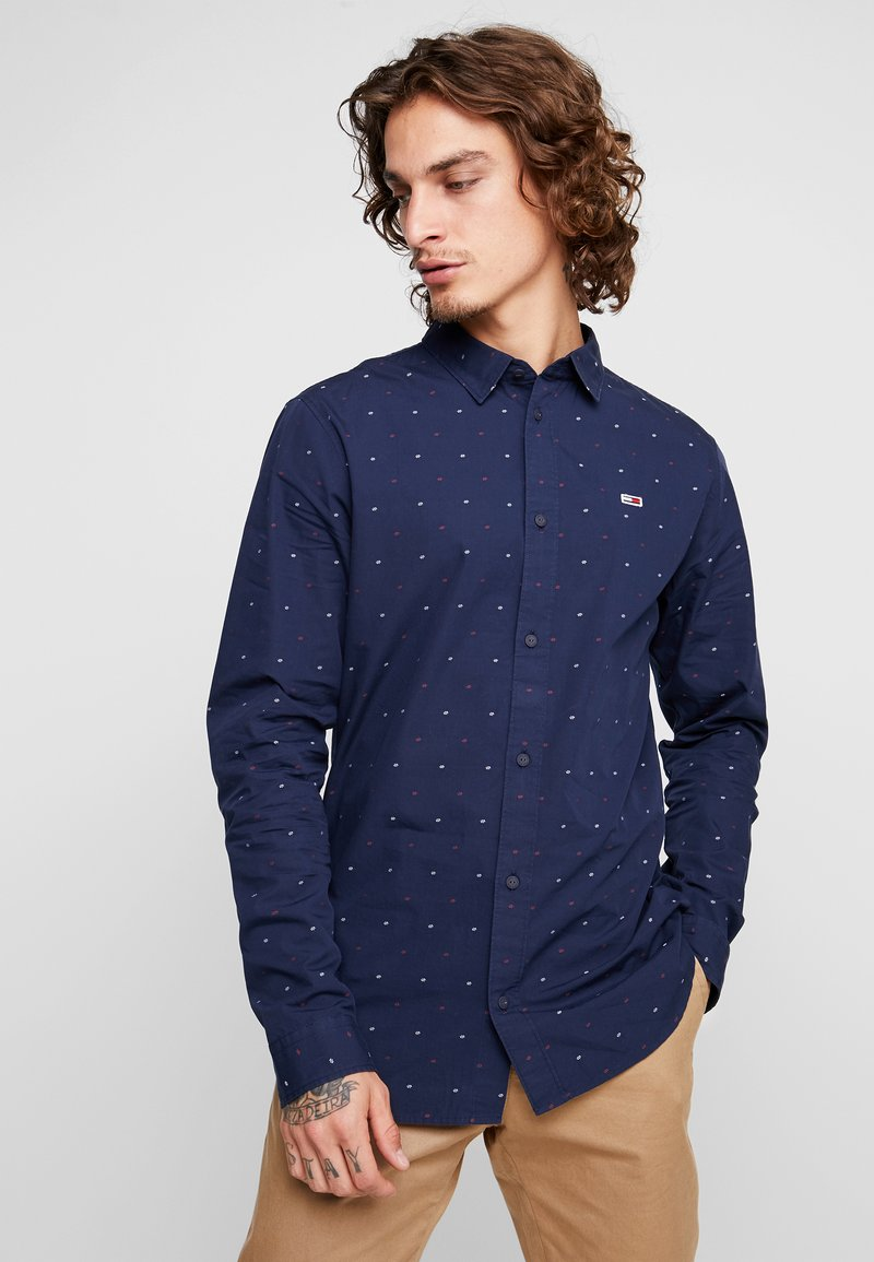 Tommy Jeans - NOVELTY DOBBY - Shirt - blue