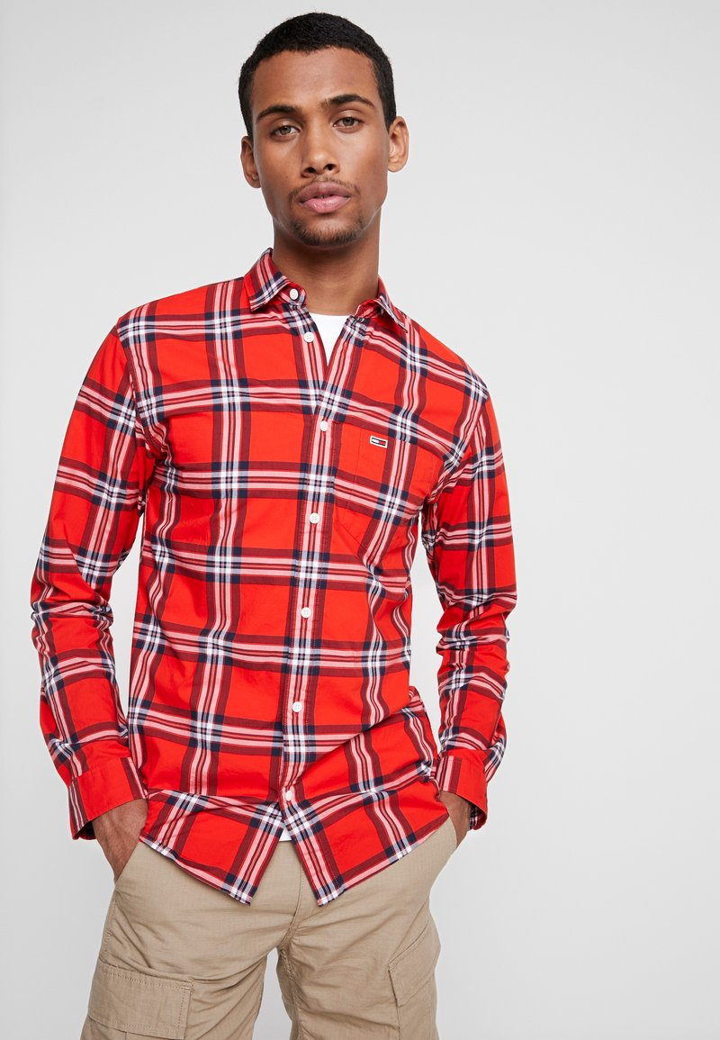 Tommy Jeans - ESSENTIAL CHECK - Shirt - red