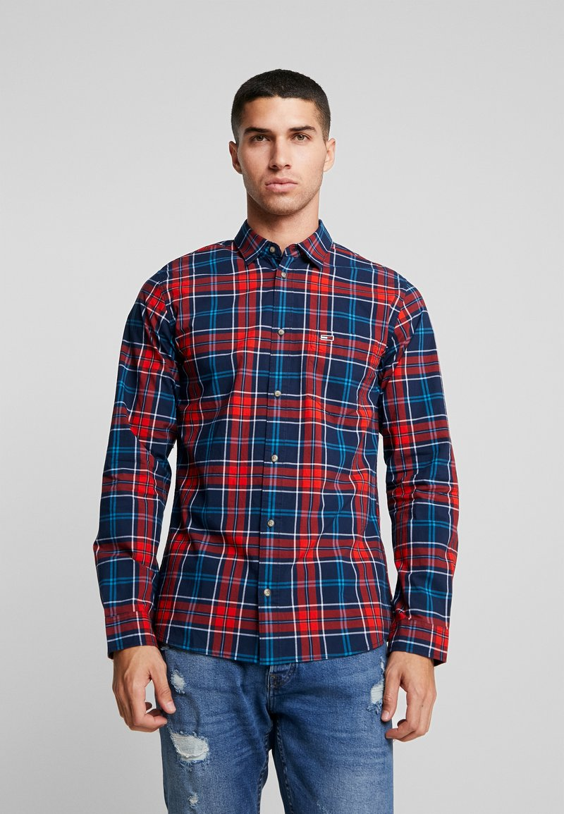 Tommy Jeans - ESSENTIAL CHECK - Skjorte - blue