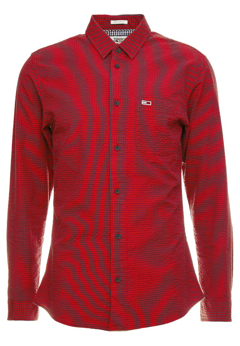 Tommy Jeans - GINGHAM SHIRT - Shirt - red