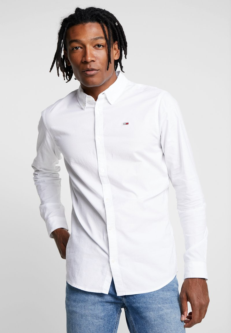 Tommy Jeans - OXFORD - Camisa - white