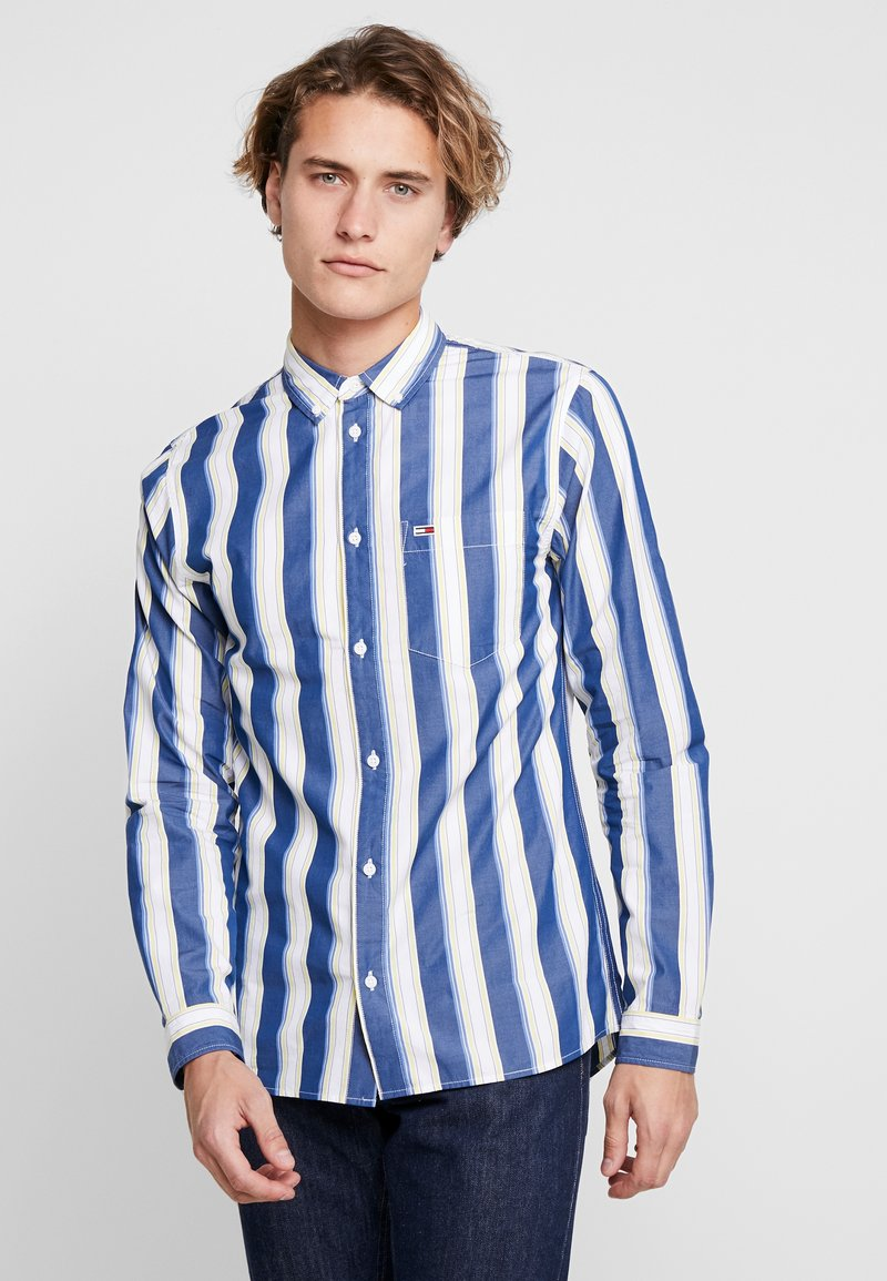Tommy Jeans - CLASSICS POPLIN STRIPE REGULAR FIT - Shirt - dark blue