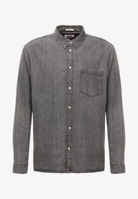 Tommy Jeans - REGULAR - Skjorta - black denim - 5