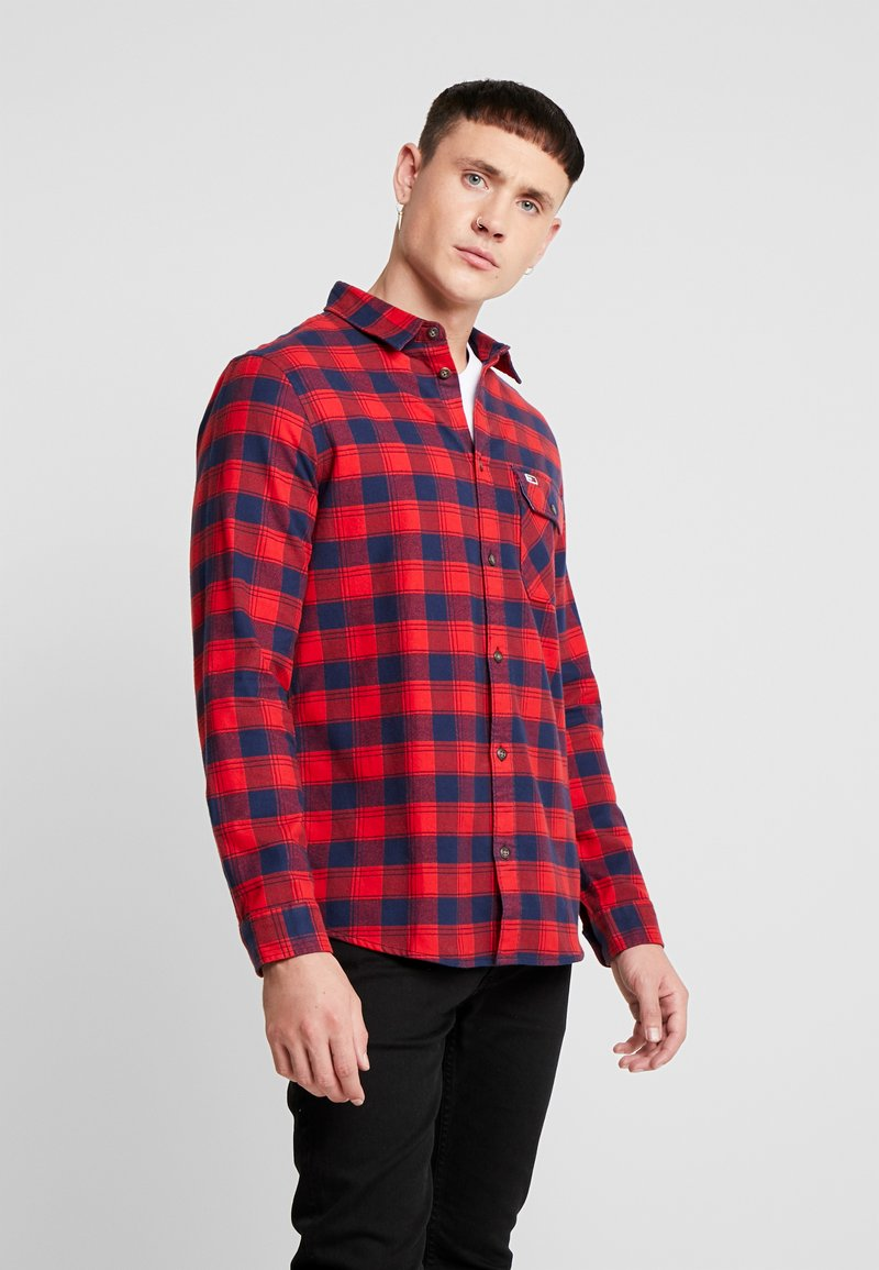 Tommy Jeans - CHECK SHIRT - Camisa - flame scarlet