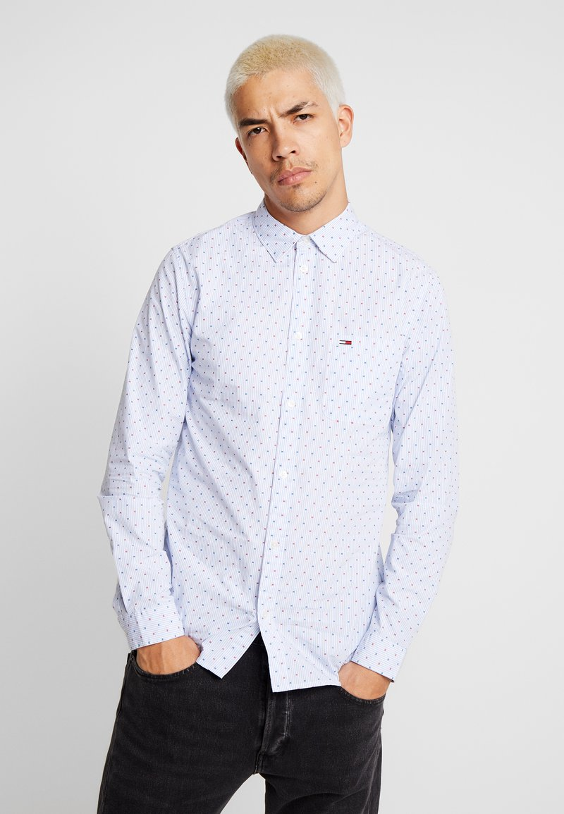 Tommy Jeans - DOBBY  - Shirt - classic white / multi