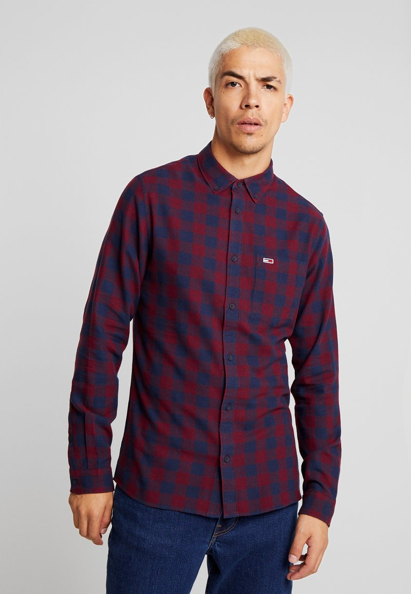 Tommy Jeans - GINGHAM - Shirt - burgundy